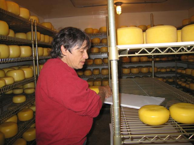 Cheese Cooler - We make about 6000 pounds of cheese a year.